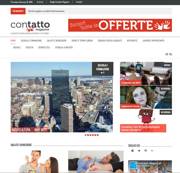 sito web contatto magazine
